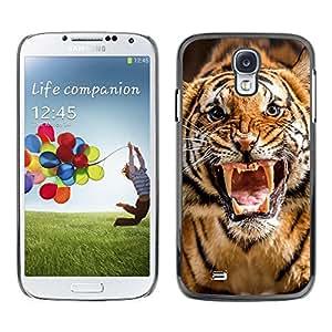 Caucho caso de Shell duro de la cubierta de accesorios de protección BY RAYDREAMMM - Samsung Galaxy S4 I9500 - Roar Tiger Stripes Wild Animal Nature