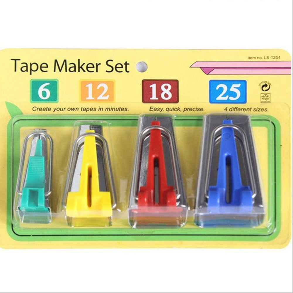 Tape Maker Set Fabric Bias Tape Maker Tool Set of 4 Set 6MM 12MM 18MM 25MM Sewing Quilting Tools luckygift 4337014174