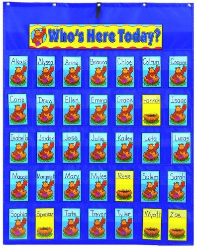 Carson Dellosa Attendance/Multiuse Pocket Chart (5644) (Whos Here Today Chart)