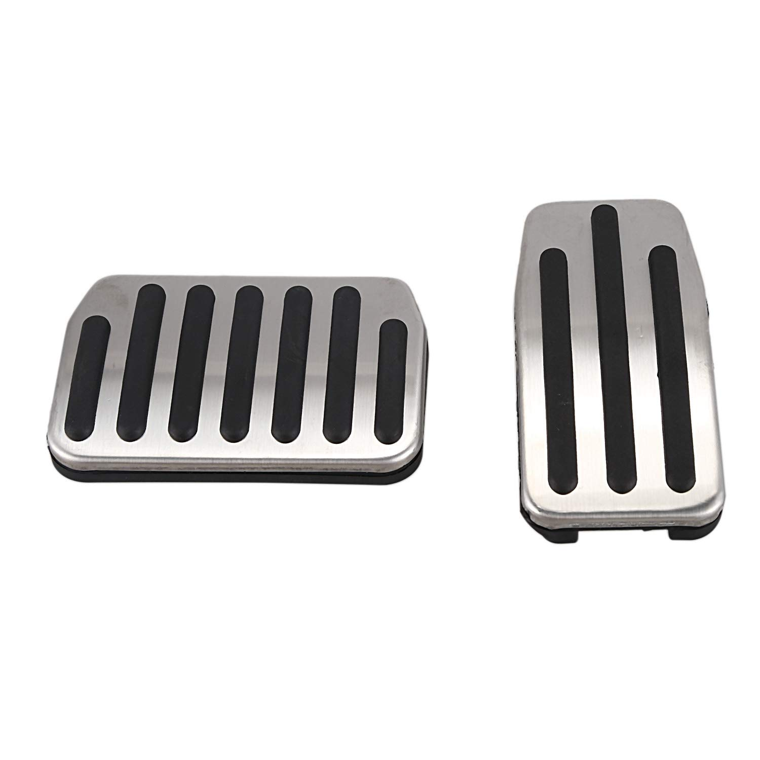 Moligh doll Aluminum Alloy Foot Pedal for Tesla Model 3 Accelerator Gas Fuel Brake Pedal Rest Pedal Pads Mats Cover Accessories Car Styling