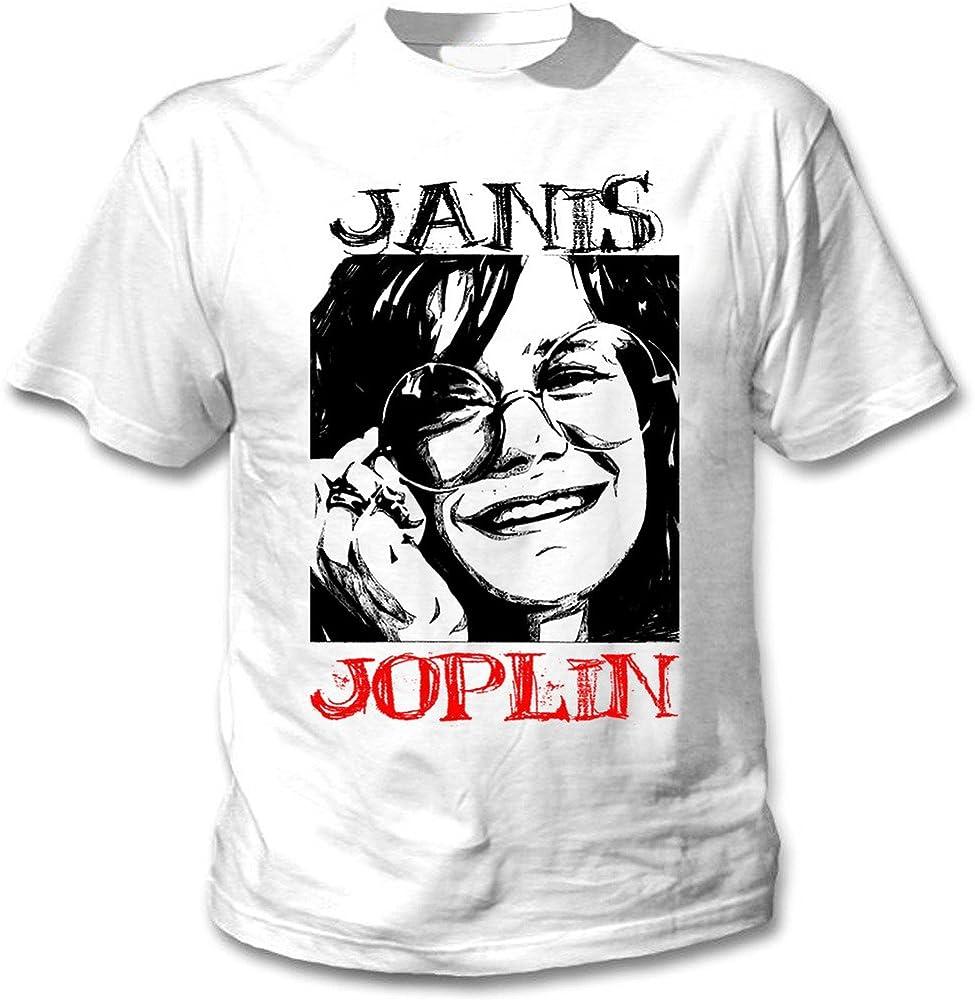 teesquare1st Janis Joplin Camiseta Blanca para Hombre de Algodon Size Small: Amazon.es: Ropa y accesorios