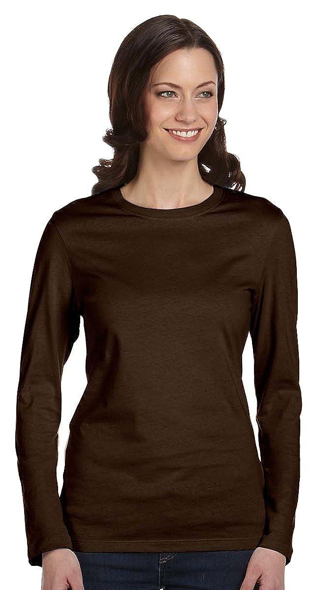 eb67ced74499 Amazon.com: Bella Womens Long-Sleeve Crew Jersey T-Shirt 6500, Large,  Black: Clothing