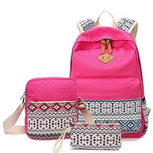Mochila Para Mujer, Mochilas Escolares, Mochila de Viaje, Mochila Conjunto Para Niñas Adolescentes Caqui: Amazon.es: Equipaje