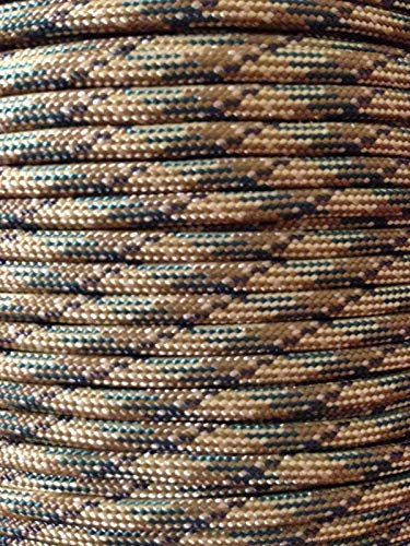 Multicam (550) Paracord Mil Spec Type III (7) Strand Parachute Cord 100' USA Made ()