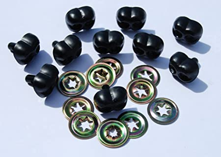 16mm Plastic Teddy Bear /& Soft Toy Making Detailed Noses TININNA 100pcs Black Animal Noses 13
