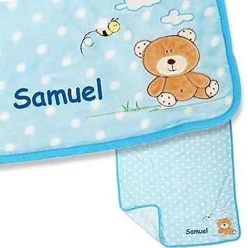 Babydecke mit Namen  bestickt,Kinder-Geburt-Taufe-,Schmusedecke