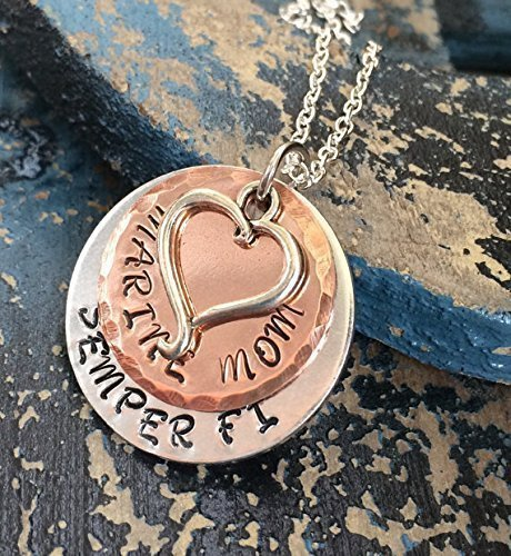 Pendant Marine Mom - Semper Fi Marine Mom/Grandma/Aunt/Wife/Girlfriend Necklace