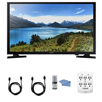 Samsung UN32J4000 - 32-Inch LED HDTV J4000 Series + Hookup Kit - Includes  TV, 6 Outlet Wall Tap Surge Protector with Dual 2 1A USB Ports, HDMI Cable