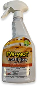 Gardner Flyweb Fruit Fly Spray | All-Natural Spray Eliminates Flies, Bugs Fleas, Ticks and Wasps - Does Not Leave a Residue, is Stain Free, Ready to Use (22oz)