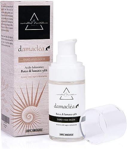 Sérum facial para contorno de ojos 98% baba de caracol y ácido hialurónico 30 ml día y noche antiarrugas antienvejecimiento nutritivo eficaz contra ...