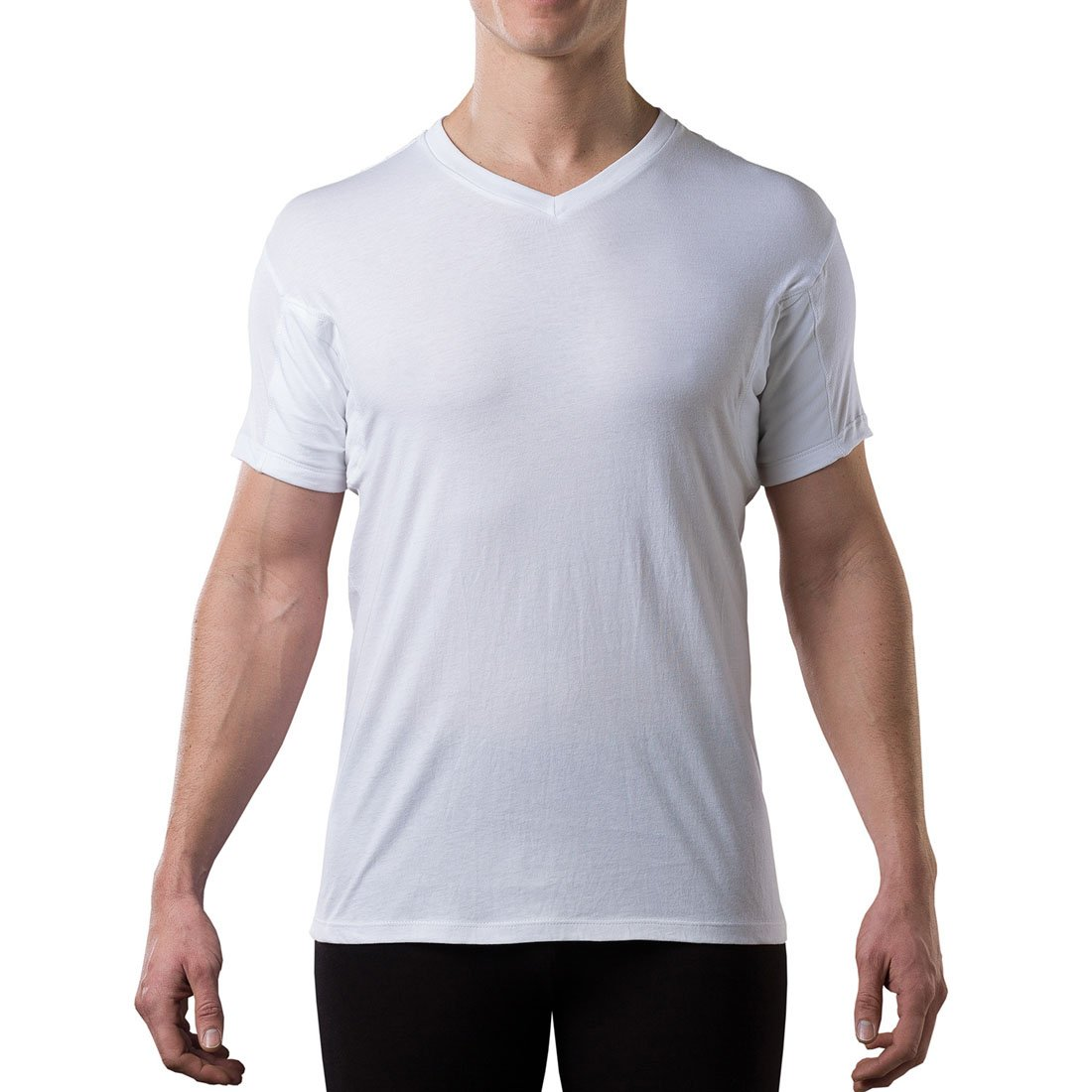 The Thompson Tee Men's V-Neck Hydro-Shield Sweat Proof Technology Undershirt