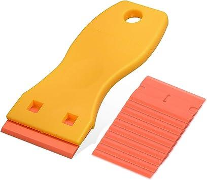 High Quality 1.5 Orange Plastic Double Edge Blade 100 Pack For Window Tint Film