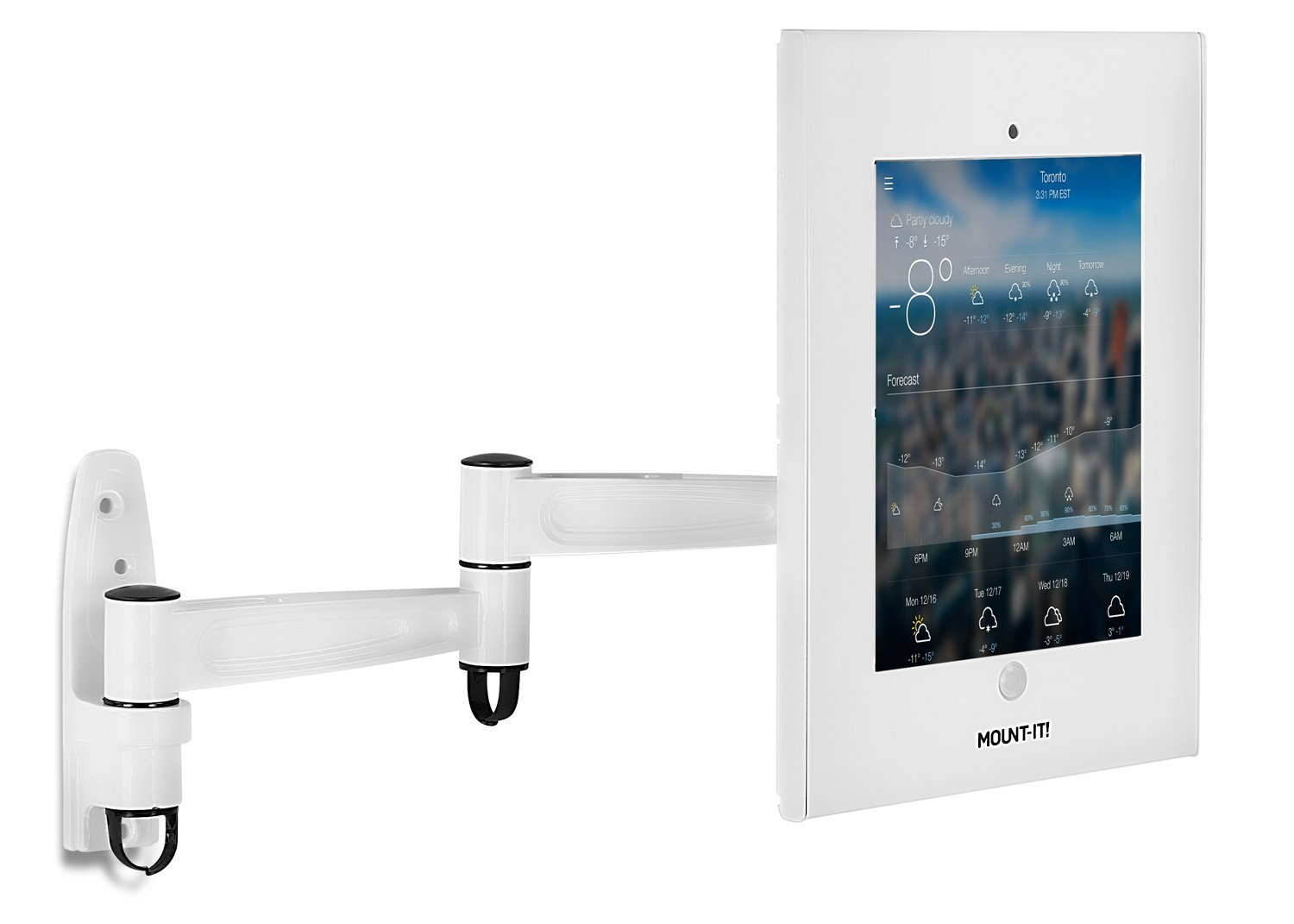 Mount-It! Tablet Wall Mount and Enclosure with Anti-Theft Function Apple iPad Holder, Locking for Public Desk Displays Case Holder iPad 2, 3, 4, and Air Or 9.7 inches Screen Tablet Sizes