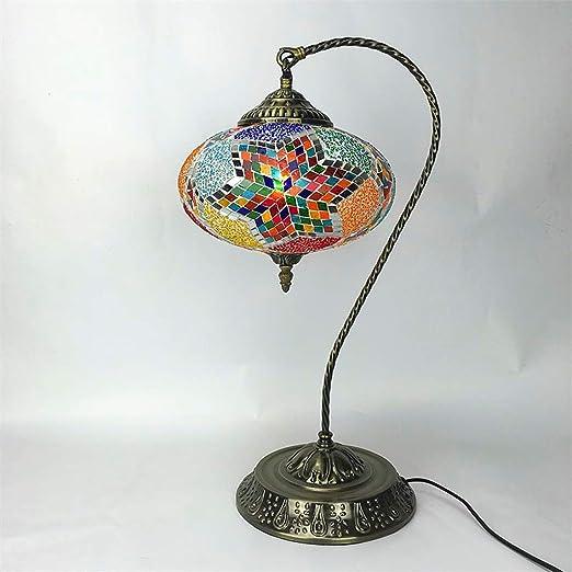 GHMOZ Lámpara de Mesa turca Lámpara de Lectura Hecha a Mano ...