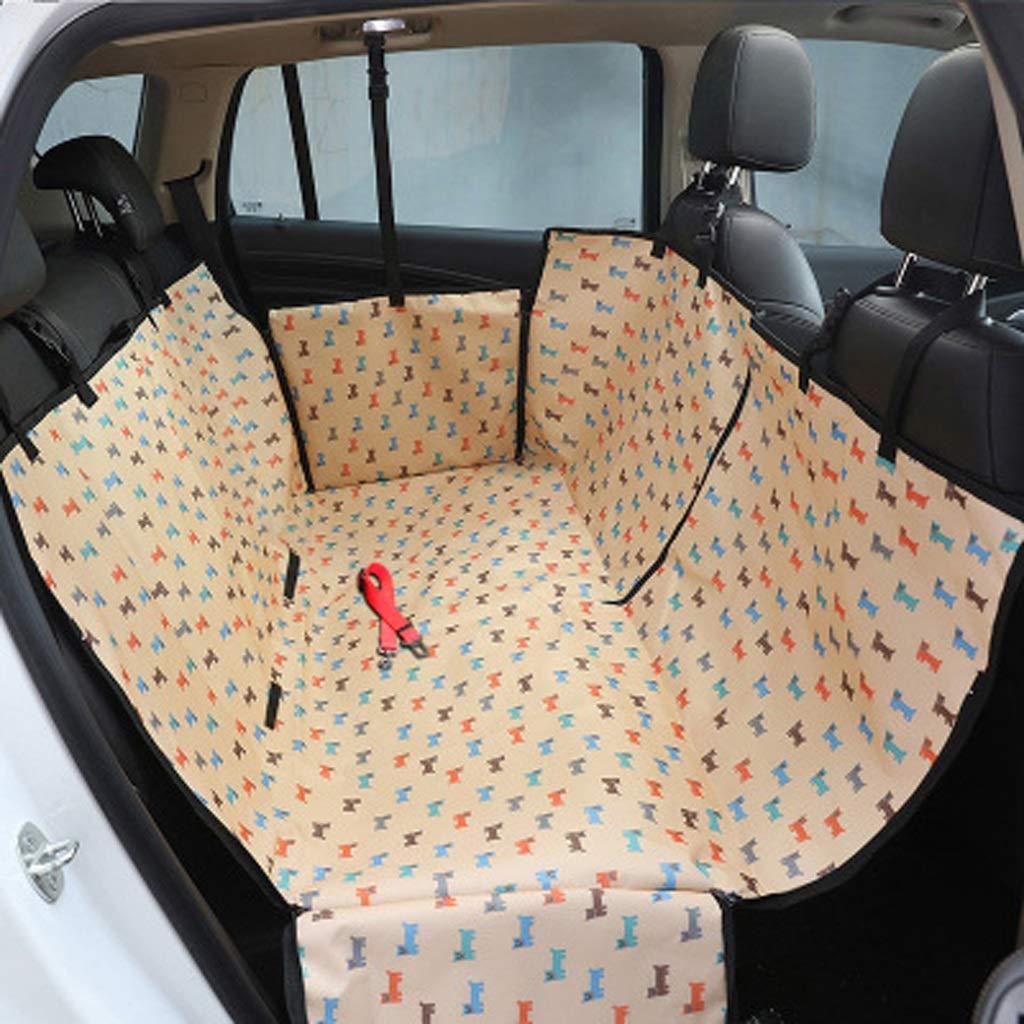 Beige Dog Car Mat, Dog Pad golden Retriever Pet Cushion Rear Car Mat Car Pet Mat Waterproof Car Predection Chair Cover (color   Beige)