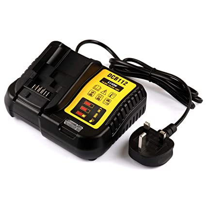 Use for Dewalt Lithium-Ion Battery DCB120 DCB127 DCB206 DCB205 DCB201 Replace DCB101 DCB105 DCB115 18V DCB112 Replacement Dewalt Battery Charger Enegitech 12V