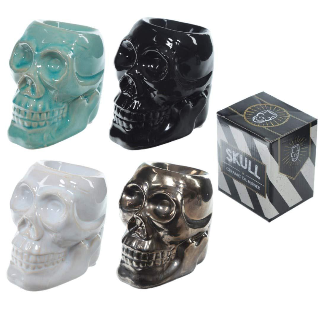 Novelty Skull Ceramic Oil Burner Puckator