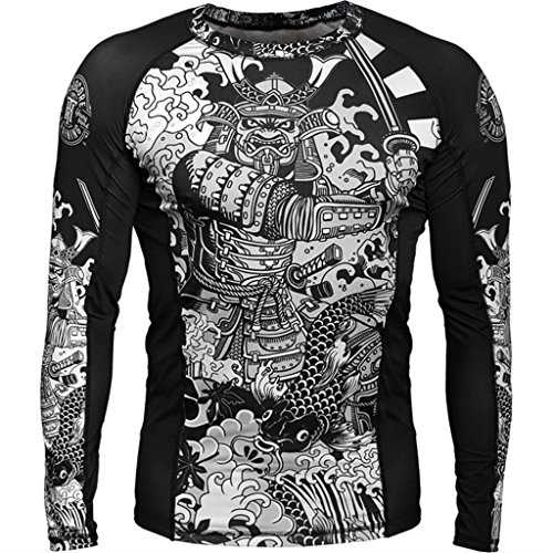 De Gym Training Camisa Black Shirt Compression white Sleeve Long Crossfit Mma Fitness Rash Guard Compresión For Men Hardcore Pxdp6qOq