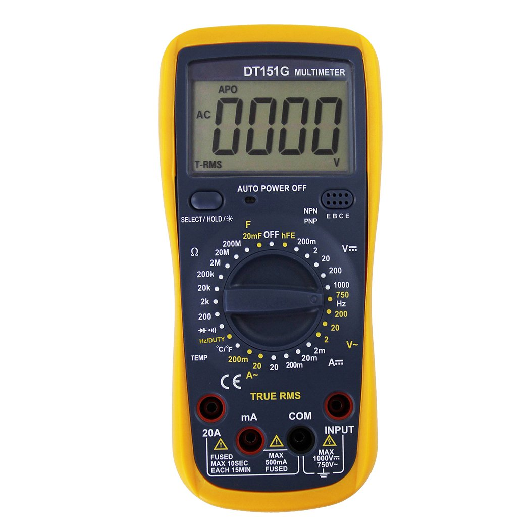 CofunKool Digital Multimeter Auto Ranging 1999 Counts Electrical Test Kit with Ohm Volt and Diode Voltage Tester