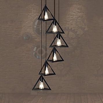 Estilo LIChandelier BAJIAN-Escalera doble de luz industrial escalera loft vintage candelabros de hierro forjado candelabro escaleras largas,35 * 150cm.: Amazon.es: Bricolaje y herramientas