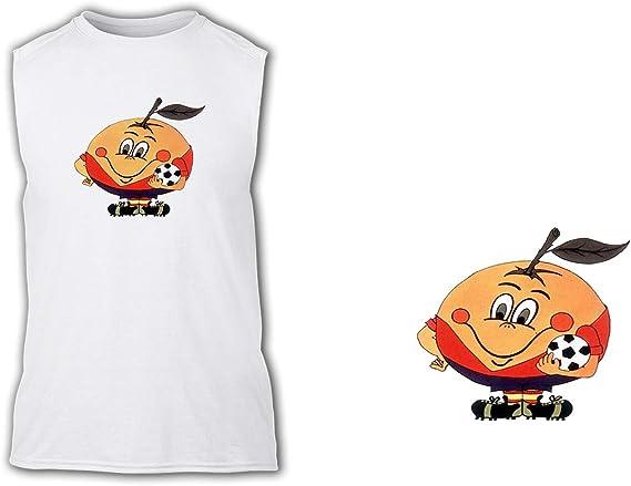 Camiseta SIN Mangas Naranjito Mascota Mundial ESPAÑA Tshirt: Amazon.es: Ropa y accesorios