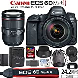 Canon EOS 6D Mark II Digital SLR Camera Kit with EF 24-105mm IS II USM Lens and more...
