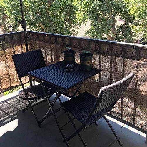 オーニングシェードボタンホール, 日除けシェードベランダシェードセイルサ UVカットバルコニーガーデン庭,Green-2x10m/6x30ft