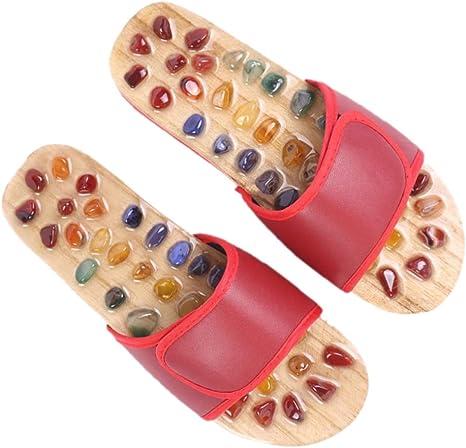 SUPVOX Semelles Chaussures Gel Massage Acupuncture Semelles de Th/érapie de Pied Coussin Adh/ésif Confortable Antid/érapant Amortissante Lavable Transparent 1 Paire