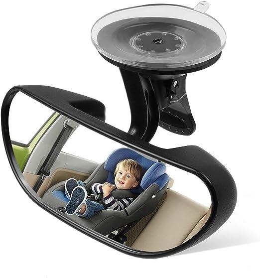 SEN Interior del Auto Espejo retrovisor Seguridad para Auto Vista f/ácil Asiento Trasero Beb/é Mirando hacia el Negro