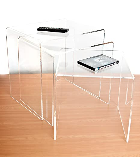 Clear Acrylic Nest Of Tables (Set Of 3)