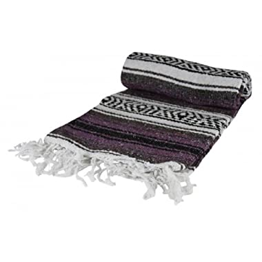 Authentic Mexican Falsa Blanket (Purple)