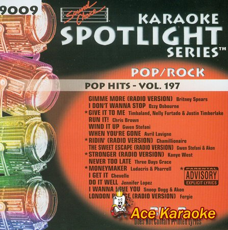 Sound Choice Karaoke Spotlight CDG SCG9009 - Pop Hits Vol. ()