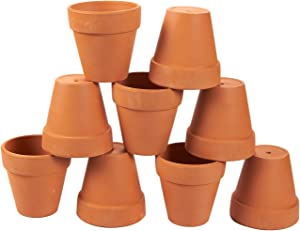 Juvale 9 Pack Terra Cotta Pots with Drainage Holes - 3.5 inches Mini Clay Flower Pots Perfect for Succulent Display, Cactus Nursery Planter, Indoor and Outdoor Plant