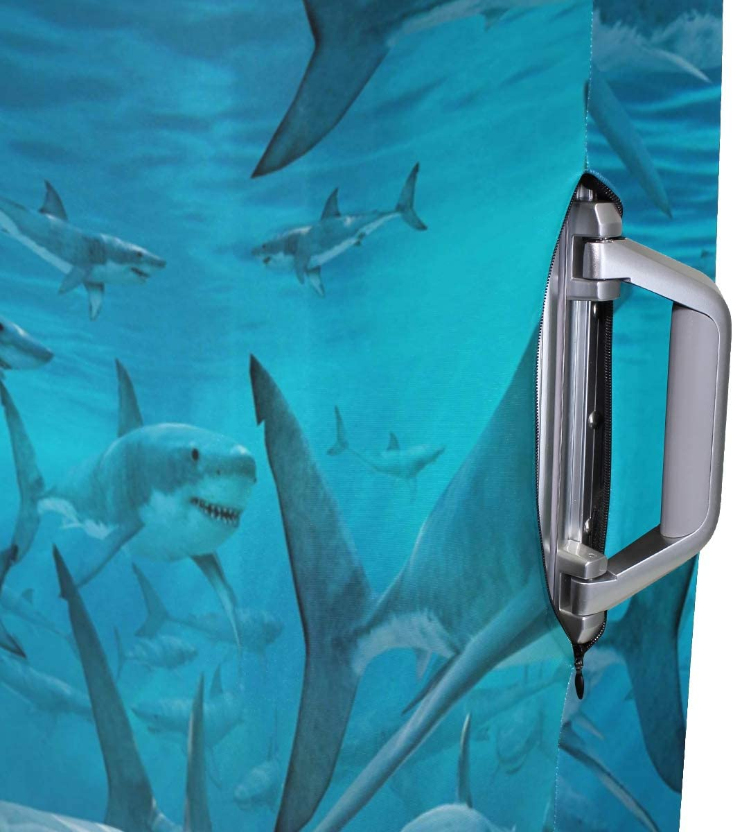 FANTAZIO Amazing Sharks Party Suitcase Protective Cover Luggage Cover