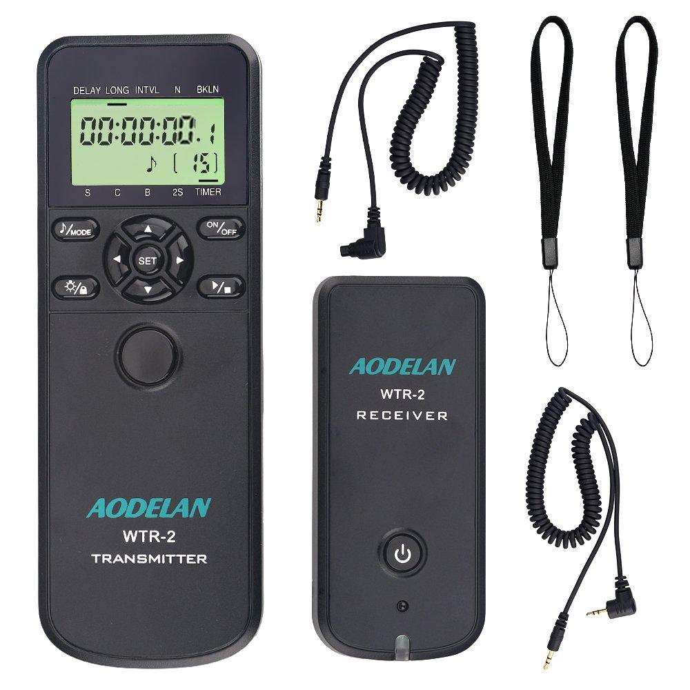 AODELAN Camera Wireless Shutter Release Timer Remote Control for Canon 80D/77D/70D/60D/800D/200D,7D series, 5D series,T7,T7i, T6, T6i, T6s,T5i, T4i, T3i, t3, RS-60& TC-80N3