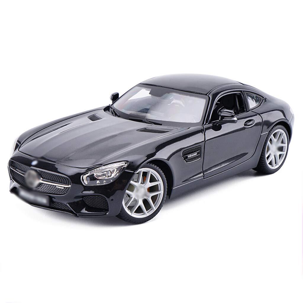 DUWEN-Modelo de coche Benz AMG GT Modelo de Coche Deportivo 1:18 Aleación de emulación Modelo de Coche Colección de Adornos (Color : Negro)
