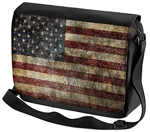 Umhänge Schulter Tasche Weltenbummler USA Flagge bedruckt