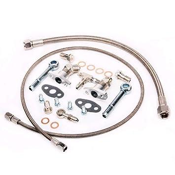 Turbo Kit de agua y aceite Garrett BB gt2860r gt2871r gt3037: Amazon.es: Coche y moto
