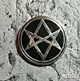 Silver Enamel Lapel Pin Supernatural Unicursal Hexagram Aquarian Star Men of Letters