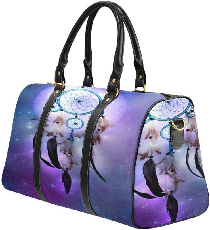 InterestPrint Unisex Duffel Bag Carry-on Bag Overnight Bag Weekender Bag Magic Dreamcatcher