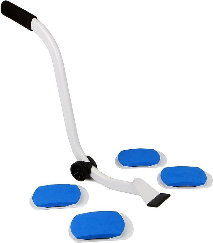 ruedas m/óviles dispositivo port/átil de levantamiento pesado,5 unidades dispositivo de movimiento pesado y sistema de palanca deslizante uego de herramientas para mover muebles