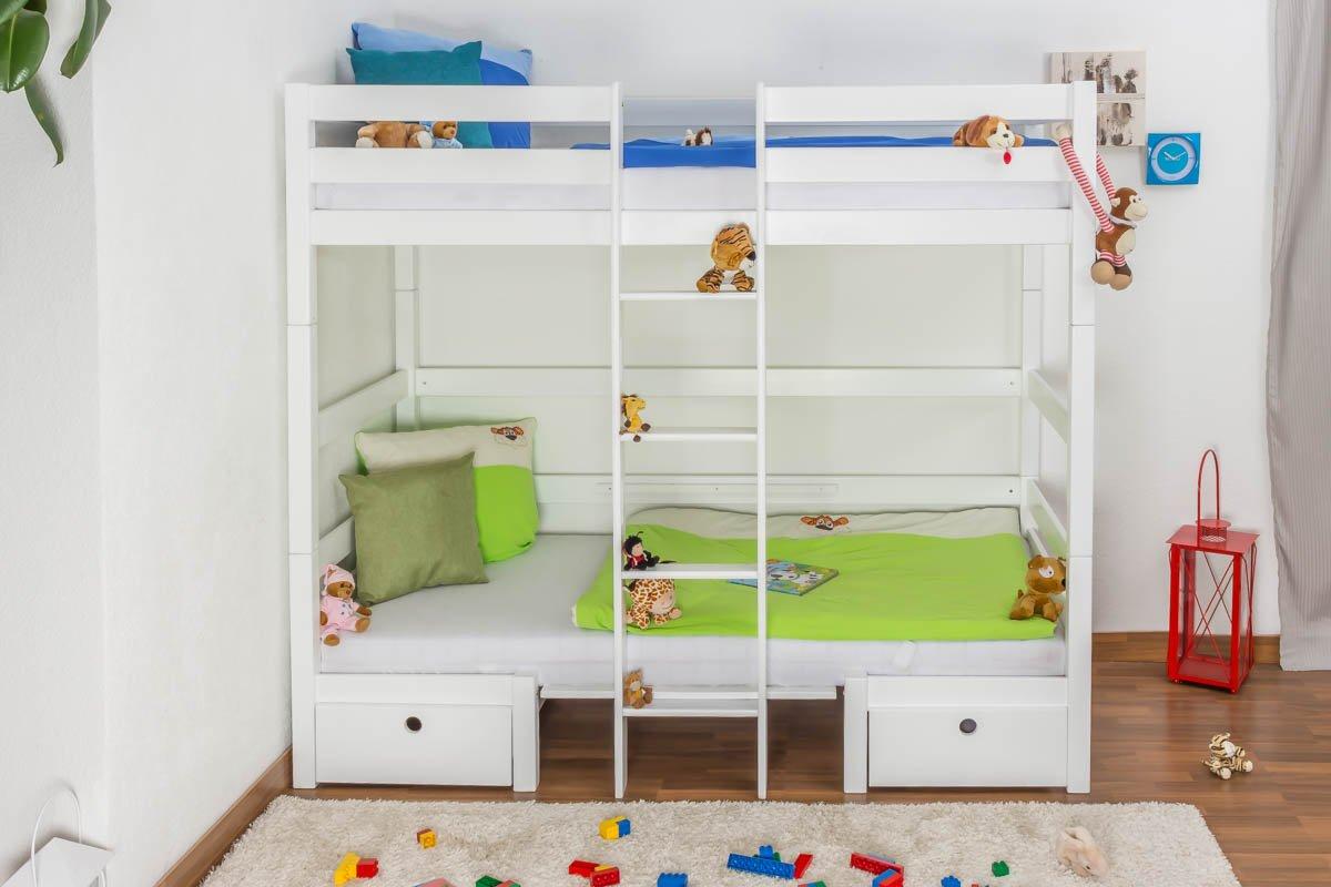 Etagenbett Umbaubar In 2 Einzelbetten : Kinderbett etagenbett funktionsbett tim umbaubar zu einem tisch