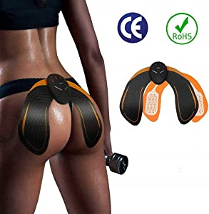 SHENGMI ABS Stimulator Buttocks/Hips Trainer Muscle Toner, Hip Trainer with 6 Modes Smart Fitness Training Gear Home Office Ab Workout Equipment Machine