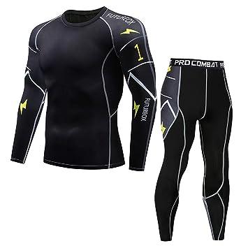 446ac712199f3 DAY8 Hommes 2 Pièces Vetement Sport Homme T Shirt Manche Longue Homme Pas  Cher Collant Yoga