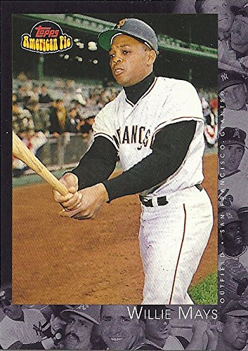 WILLIE MAYS COLLECTIBLE TRADING CARD - 2001 TOPPS AMERICAN PIE CARD #91 (SAN FRANCISCO GIANTS) FREE SHIPPING!