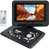 """Smyidel 9.8"""" Portable DVD Player Supports SD Card/USB Port/CD/DVD, Remote Controller,2 Hour Rechargeable Battery, 9"""" Eye-Prot"""