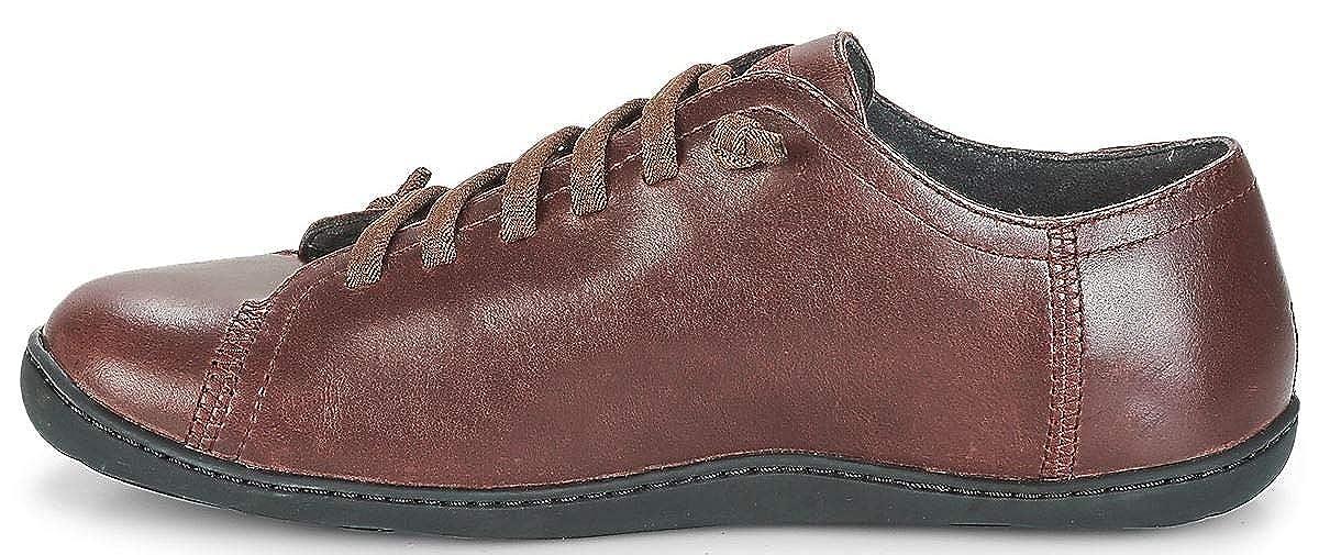 Zapatos Hombres Peu 17665 Cami Trainers Bordeaux Camper Cuero dq0x4Ip4w