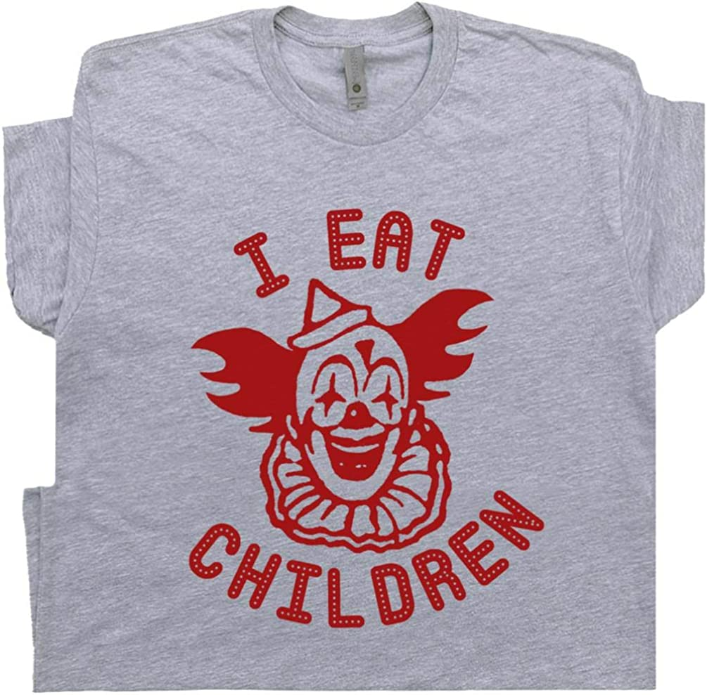 Creepy Clown T Shirt Pennywise The Vintage Weird Circus Poster Tee 70s 80s It Horror Movie Offensive Saying
