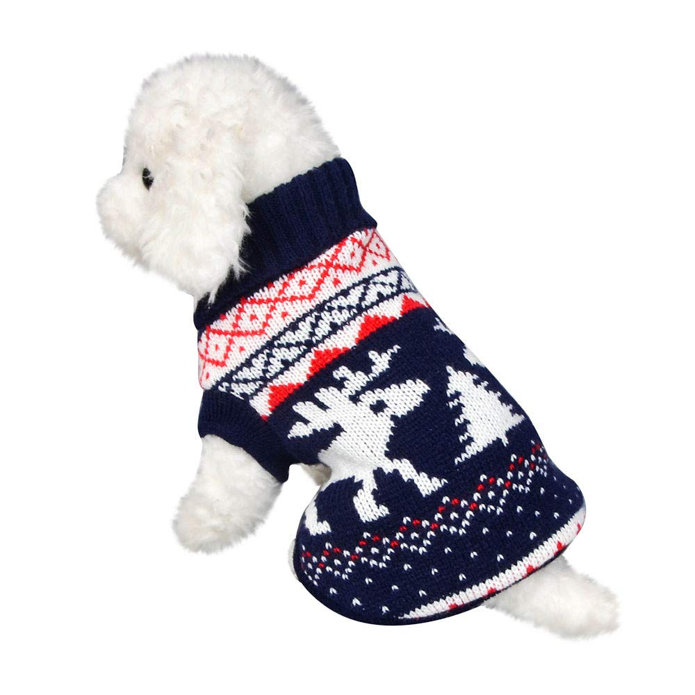 Weite Christmas Pet Clothes Warm Winter Puppy Dog Cat Turtleneck Sweater Apparel