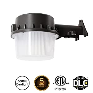 LED Yard Light LED Outdoor Barn Light 35W LED Dusk-to-Dawn (250-350W Equivalent), 5000K Daylight, Floodlight, ETL-listedard Light for Area Lighting, Wet Location Photocell Included,50K 1Pack